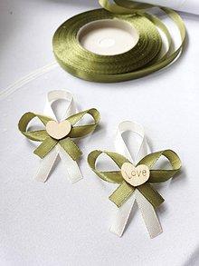 Pierka - V olivovej farbe - 10285932_