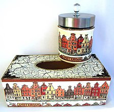 Krabičky - Servítkovník a dóza- Amsterdam-sada - 10288482_