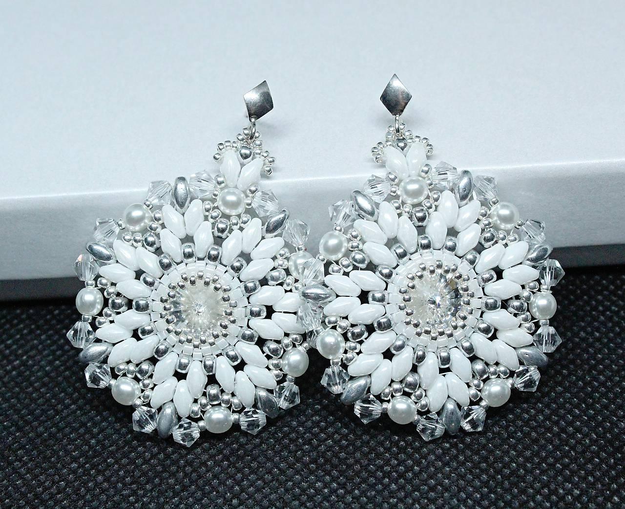 ... Náušnice - Luxusné svadobné náušnice  Snehové vločky  so Swarovski®  kryštálmi   Ag 925 fb37e4d1640