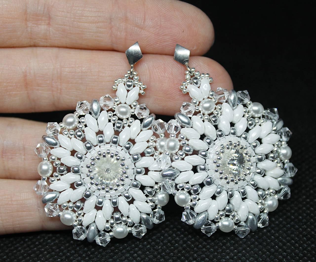 ... Náušnice - Luxusné svadobné náušnice  Snehové vločky  so Swarovski®  kryštálmi   Ag 925 ... 0f5382cac04