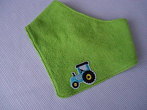 Detské doplnky - chlapčenský nákrčník - traktor - 10285607_