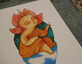 Grafika - Malý Budha - 10287121_