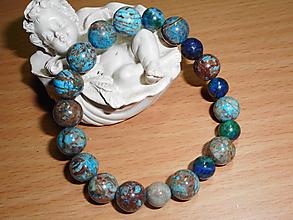 Náramky - blue jasper - 10287568_