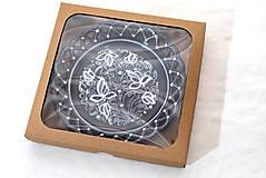 Nádoby - Kobaltový čipkovaný dvojradový tanier v krabičke - 10286547_