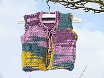 Detské oblečenie - Vestička chunky - 10286179_