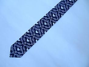 "Doplnky - kravata folk ""modrotlač"" rôzne varianty (XIII.) - 10286596_"