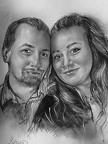 Kresby - Portrét-zamilovaní - 10288409_