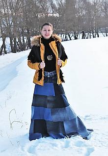 Sukne - rifľová-recy-carmen sukňa I - 10286110_