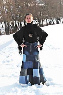 Sukne - rifľová-recy-carmen sukňa II - 10286133_