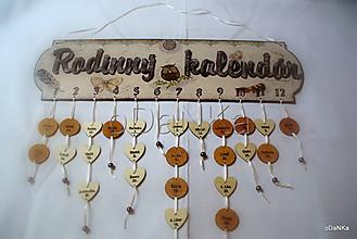 Dekorácie - rodinný kalendár Sovička - 10287676_