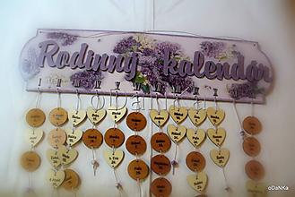 Dekorácie - rodinný kalendár Orgován - 10287717_
