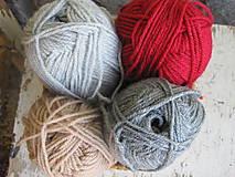 Čiapky - bordový MERINO set - 10287160_