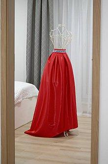 Sukne - Spoločenská maxi sukňa vpredu kratšia, vzadu dlhšia (obvod pásu do 80cm) - 10286865_