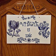 Tabuľky - Tabuľka na dvere Modrá 3 - 10288464_
