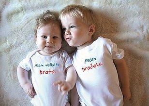 Detské oblečenie - sada pre bračekov - 10287304_