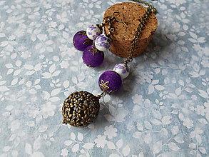 Sady šperkov - Tmavofialové bobuľky - 10287305_