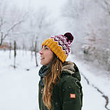 - dámska čiapka s rukavicami, pánska čiapka - 10286696_