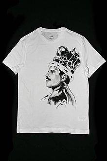 Tričká - Ručne maľované tričko Freddie Mercury - 10288255_