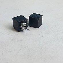 Náušnice - Objednávka betónových napichovačiek Cube black a Triangle black - 10288553_