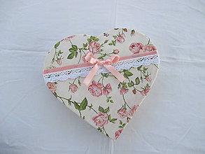 Krabičky - Romantická krabička SRDCE - 10288347_