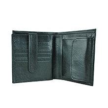 Peňaženky - Luxusná kožená peňaženka v čiernej farbe - 10287260_
