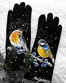 Rukavice - vtáčiky - 10286047_