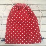 Batohy - červená bodkovaný batoh - 10287440_