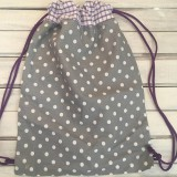 Batohy - bodkovaný šedý batoh - 10287479_