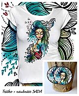 Tričká - Sada Still - tričko + náušnice - 10285897_