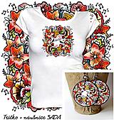 Tričká - Sada Kvitnem - tričko + náušnice - 10286702_