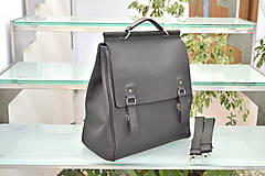 Batohy - Kožený ruksak PALI - 10286795_