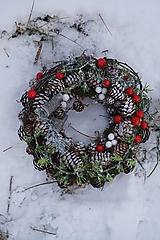 Dekorácie - Venček na celú zimu - 10287631_