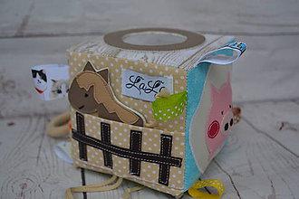 Hračky - Farma - didaktická kocka - 10287844_