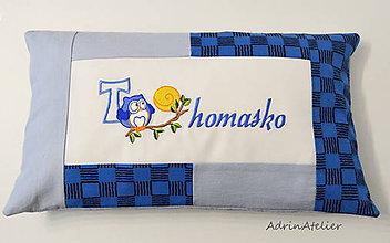 Úžitkový textil - vankúšik s menom - 10287543_