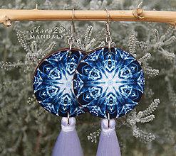 Náušnice - Mandala Flower Snowflakes - 10286115_