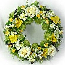 Dekorácie - Věneček jarní - Sluníčka v trávě - 10288040_