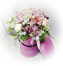Dekorácie - Boxík dárkový - Best Wishes - 10288084_