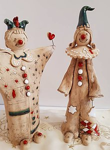 Dekorácie - Veselí keramický šaškovia. - 10287874_