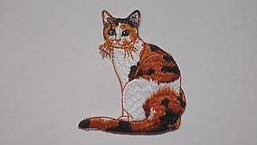 Galantéria - Nažehľovačka Mačka viacfarebná - 10288401_