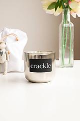 Svietidlá a sviečky - Zrkadlová strieborná malá - 10286671_