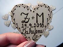 Darčeky pre svadobčanov - Svadobné magnetky - 10286005_