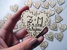 Darčeky pre svadobčanov - Svadobné magnetky - 10286018_