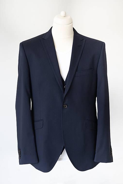 London 3 - dielny oblek tmavomodrý s bledým prúžkom