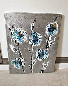 Obrazy - Ľadové kvety - 10285860_