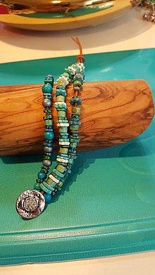 Náramky - Naramok z keramickych peral - 10287014_