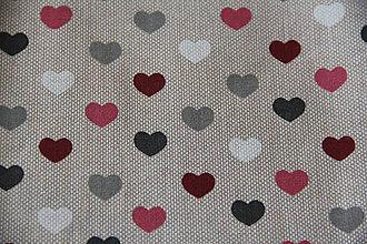 Úžitkový textil - Sťahovacie vrecúško (Béžová) - 10286165_