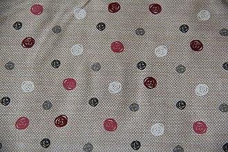 Úžitkový textil - Sťahovacie vrecúško (Béžová) - 10286169_