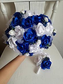 Kytice pre nevestu - Z ruží v kráľovsky modrej - 10288358_