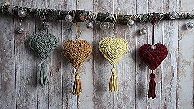 Dekorácie - Závesná dekorácia srdce - 10285759_