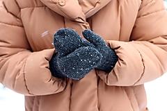 Rukavice - Tweedové palčiaky - 10288611_